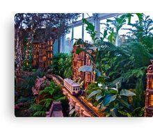 Holiday Train Show - Gingerbread Adventures - Botanical Garden Canvas Print