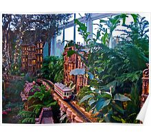 Holiday Train Show - Gingerbread Adventures - Botanical Garden Poster