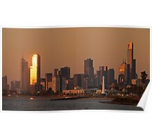 Melbourne from Elwood Hill Poster
