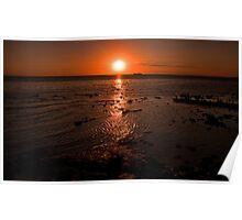 Sunset at Elwood Beach Poster