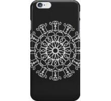 Kaleidoscope abstract black white pattern iPhone Case/Skin