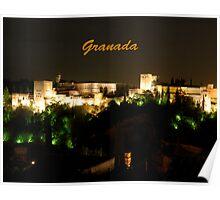 The Alhambra in Granada, Spain Poster
