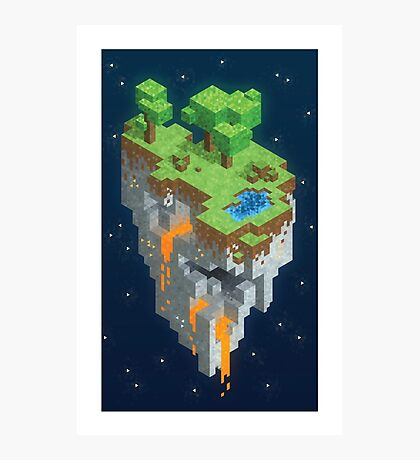 Minecraft HEXELS Photographic Print