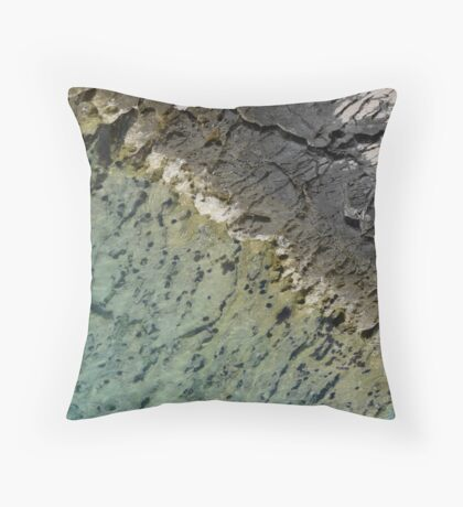 Adriatic Sea Abstract Throw Pillow