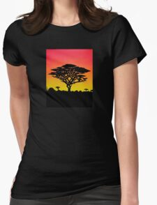 Meanwhile, In Africa Womens Fitted T-Shirt