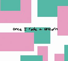 once I rode a unicorn by sirea