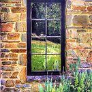 Side window, Lavender Fields Cottage by Elana Bailey