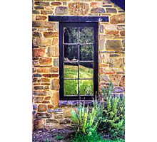 Side window, Lavender Fields Cottage Photographic Print