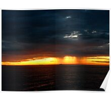 redgold morning storm Poster