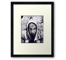 Hood in the Wood Framed Print