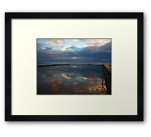 swimming in the clouds Framed Print