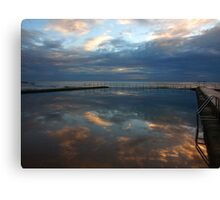 swimming in the clouds Canvas Print