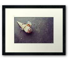 I dropped my vanilla icecream Framed Print