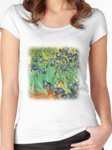 Irises, Vincent van Gogh Women's Fitted Scoop T-Shirt