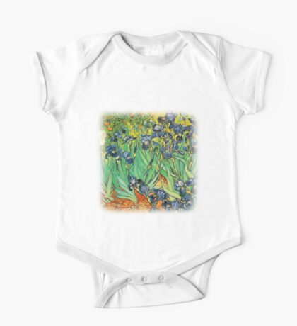 Irises, Vincent van Gogh One Piece - Short Sleeve