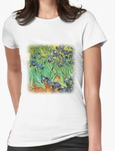 Irises, Vincent van Gogh Womens Fitted T-Shirt