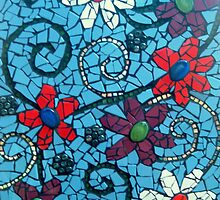 flower amongst broken tiles   by AshleighS