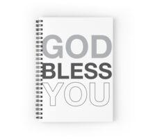 God Bless You (b) Spiral Notebook