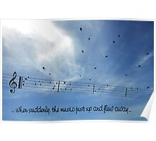 MUSIC TAKES FLIGHT Poster