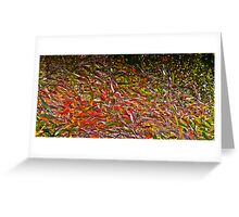 Natures paint brush Greeting Card