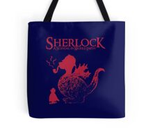 Sherlock - A scandal in Middle Earth (red) Tote Bag
