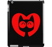 Cute Cartoon Cat In A Heart by Cheerful Madness!! iPad Case/Skin