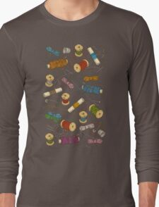 Colored thread Long Sleeve T-Shirt