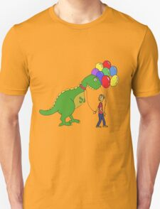 Happiness is balloons and a dinosaur T-Shirt
