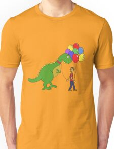 Happiness is balloons and a dinosaur Unisex T-Shirt
