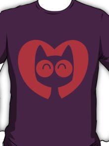 Cute Cartoon Cat In A Heart by Cheerful Madness!! T-Shirt