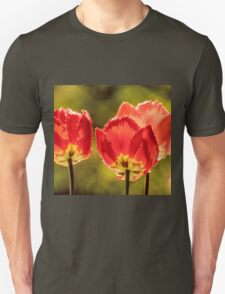 Glowing Red Tulips Unisex T-Shirt