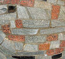 Mosaics made of large stone blocks of marble by vladromensky