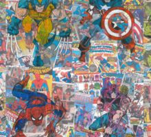 Vintage Comic Superheroes Galore (Limited Time) Sticker