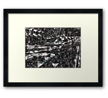 Elevating Cube - Ice Mirror Framed Print