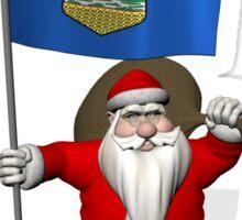Santa Claus Visiting Alberta Sticker