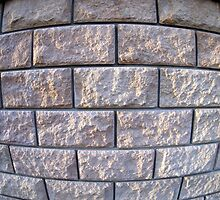 Fragment of the wall of the large gray concrete blocks by vladromensky