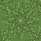 Floral green pattern by elangkarosingo