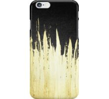 Paint Strokes in Faux Gold on Black iPhone Case/Skin