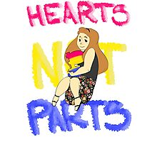 Hearts Not Parts Photographic Print