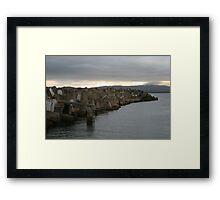 cement seascape Framed Print