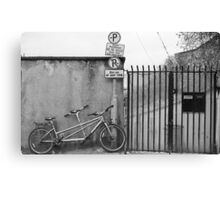 On A Bicycle Made For Two Canvas Print