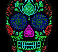 Colorful Sugar Skull by sale