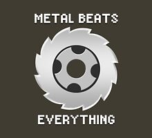 Metal Beats Everything Womens Fitted T-Shirt