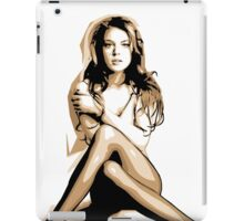 Lindsay Lohan - Vector Art iPad Case/Skin