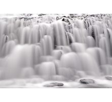 The many textures of a waterfall Photographic Print