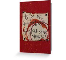Serve Mimosas Greeting Card