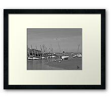 Blakeney Quay North Norfolk in Monochrome Framed Print