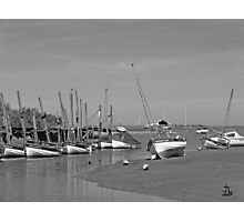 Blakeney Quay North Norfolk in Monochrome Photographic Print