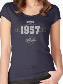 Born in 1957 (Light&Darkgrey) Women's Fitted Scoop T-Shirt