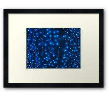 Defocused and blur image of garland of blue LED lights Framed Print